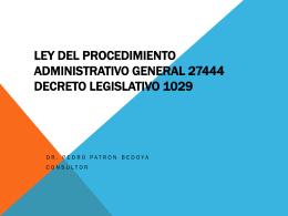 LEY DEL PROCEDIMIENTO ADMINISTRATIVO GENERAL …