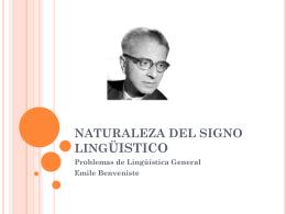 NATURALEZA DEL SIGNO LINGUISTICO
