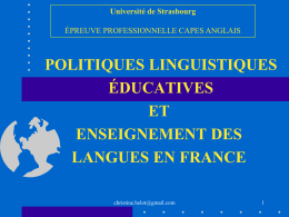 Language Education and/or Language Learning in French