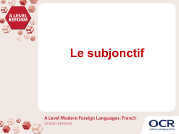 A Level Modern Foreign Languages: French