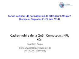 ITU Workshop on Mobile QoS