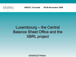 STATEC - XBRL Project