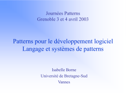 Pattern Language Pattern Catalogs and Systems