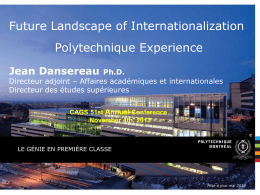 INTERNATIONALISA TION. J DANSEREAU.4 nov 2013
