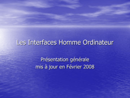 Interfaces Homme Ordinateur