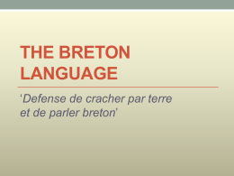 The Breton Language - University of Ottawa