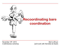 Recoordinating coordination