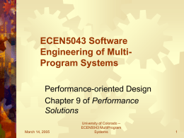 ECEN5043 Software Engineering of Multi