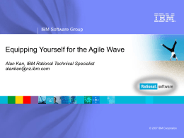 IBM Rational Software Agile Development Offering …