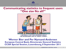 Communication of statistics