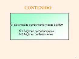 CONFIGURACION DEL REGIMEN TRIBUTARIO VIGENTE …