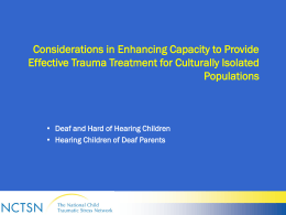 Adapting Trauma Treatments for Underserved Populations