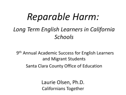 Reparable Harm: - Santa Clara County Office of Education