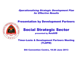 Government & Development Partners Program Alignment …