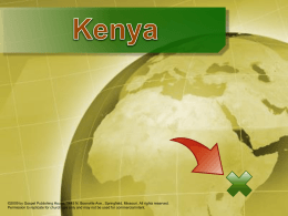 Presentation: Facts About Kenya