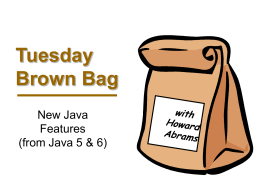 Tuesday Brown Bag