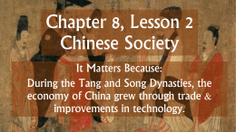 Chapter 8, Lesson 2 Chinese Society
