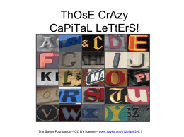 ThOsE CrAzy CaPiTaL LeTtErS!