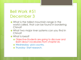 Bell Work #1 August 20