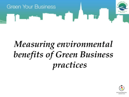Measuring environmental benefits of Green Business …