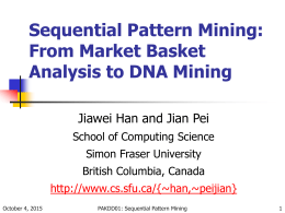Sequential Pattern Mining: From Market Basket Analysis to