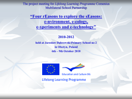 The project meeting for Lifelong Learning Programme
