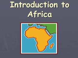 Africa - Thomas County Schools