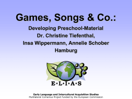 Workshop Spiele, Songs & Co.: Developing Kita