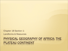 Physical Geography of Africa: The Plateau Continent