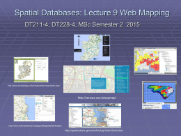 Using PostgreSQL and PostGIS as a Spatial Da
