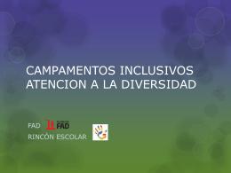 CAMPAMENTOS INCLUSIVOS ATENCION A LA DIVERSIDAD