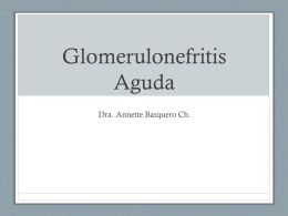 Glomerulonefritis Aguda - Noveno Semestre UCIMED 2012
