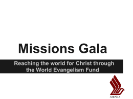 Missions Gala - Church of the Nazarene