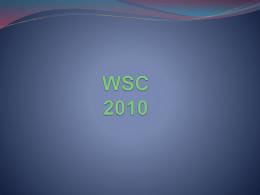 WSC 2010 - NA Colorado Region