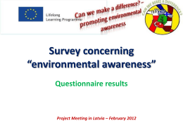 Survey concerning environmental awareness in our …