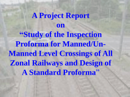 Study of the Inspection Proforma for Manned/Un