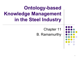 Ontology-based Knowledge Management in the Steel …