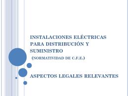 Normatividad de c.f.e. (suministro) nom-001-sede
