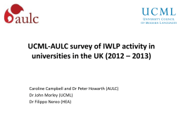 UCML-AULC survey of IWLP activity in universities in the