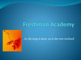 Freshman Academy