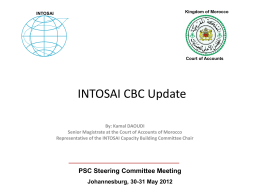 INTOSAI CBC Update - Forside