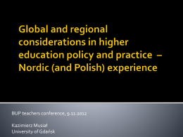 Reconstructing Nordic significance in post