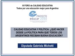 Diapositiva 1 - Proyecto Educar 2050