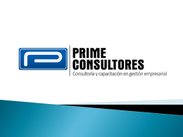 Diapositiva 1 - Prime Consultores
