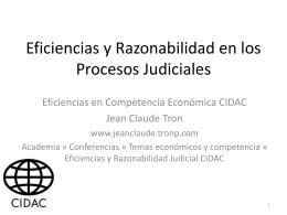 Eficiencias y Razonabilidad en los Procesos Judiciales