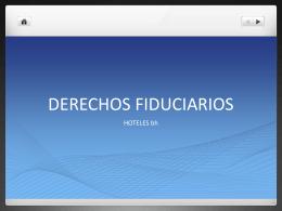 DERECHOS FIDUCIARIOS