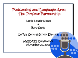 Podcasting 101 - Le Roy Central Schools