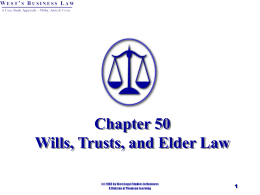 Chapter 53 Wills, Trusts, and Estates