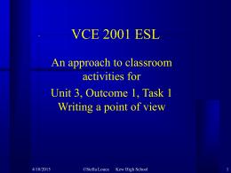 VCE 2000 ESL