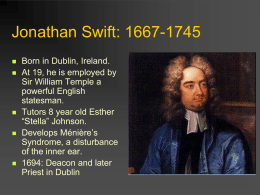 Jonathan Swift: 1667-1745